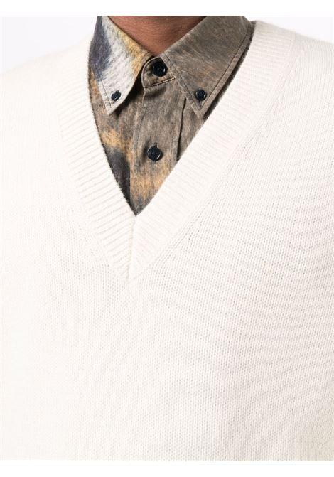 tamir sweater man ecru DRIES VAN NOTEN | Sweaters | TAMIR 37035