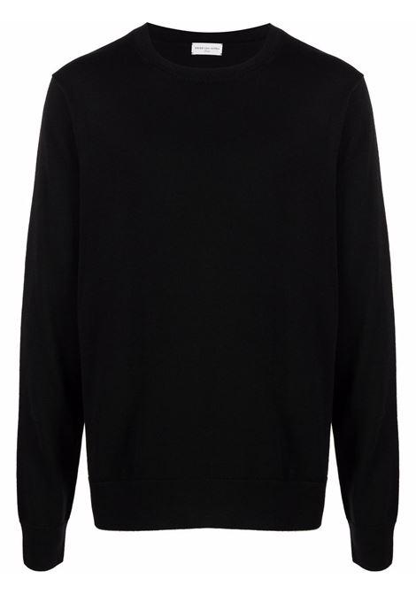 maglione taxi uomo nero in lana merino DRIES VAN NOTEN | Maglieria | TAXI 3700900