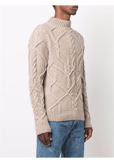 tibeaus sweater man beige in lambswool DRIES VAN NOTEN | Sweaters | TIBEAU 37044