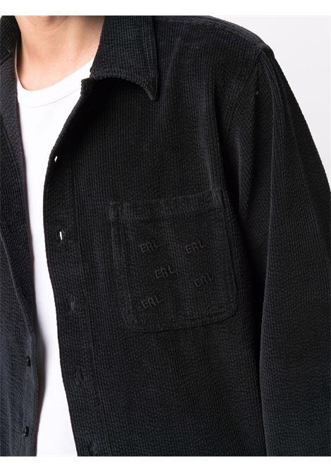 camicia woven uomo nera in cotone ERL | Camicie | ERL03B0011
