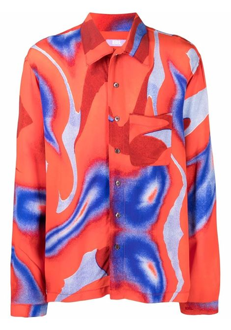 printed shirt man blue in viscose ERL | Shirts | ERL03B0031