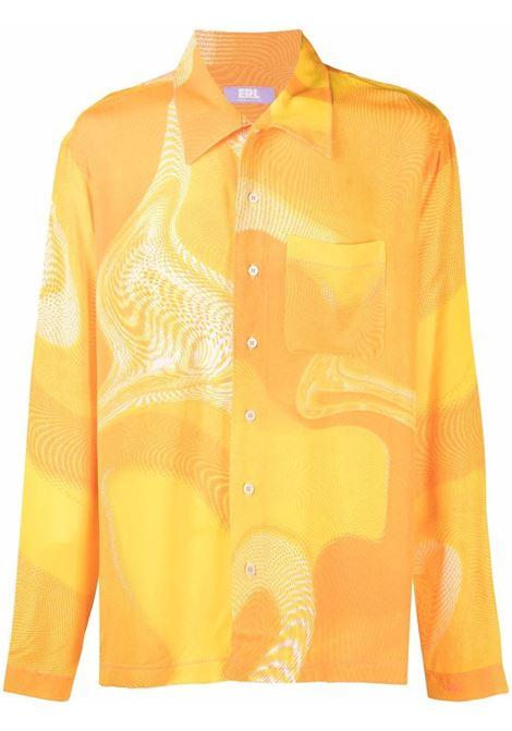 printed shirt man yellow in viscose ERL | Shirts | ERL03B0033