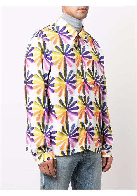 printed shirt man multicolor in rayon ERL | Shirts | ERL03B0041