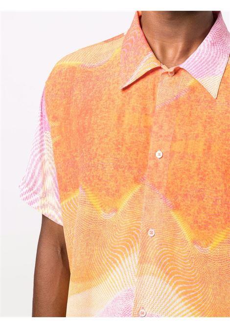 printed shirt man pink in viscose ERL | Shirts | ERL03B0092