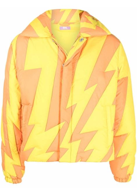 puffer woven jacket man orange in polyester ERL | Jackets | ERL03C0031