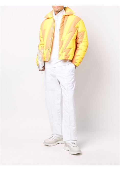 puffer woven jacket man orange in polyester ERL   Jackets   ERL03C0031