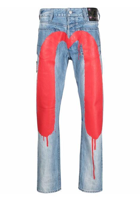 jeans red daicock uomo denim in cotone EVISU | Jeans | 2EAEBM1JE91117INDM