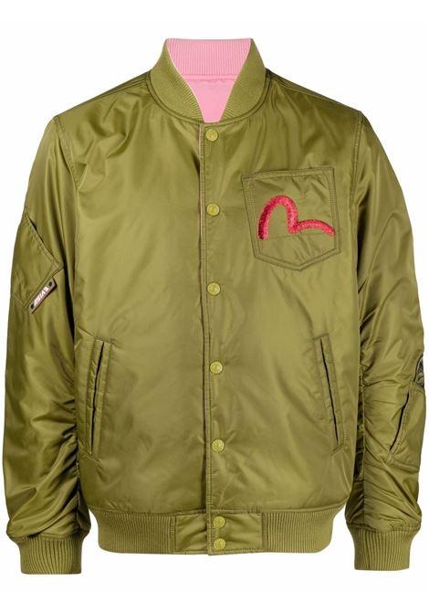 giacca reversibile uomo avocado e rosa EVISU | Giacche | 2EAEBM1JK720LFKHPK