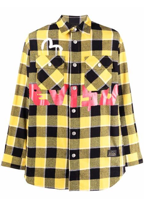plaid shirt man yellow and black in cotton EVISU | Shirts | 2EAEBM1SL131WVYELXX