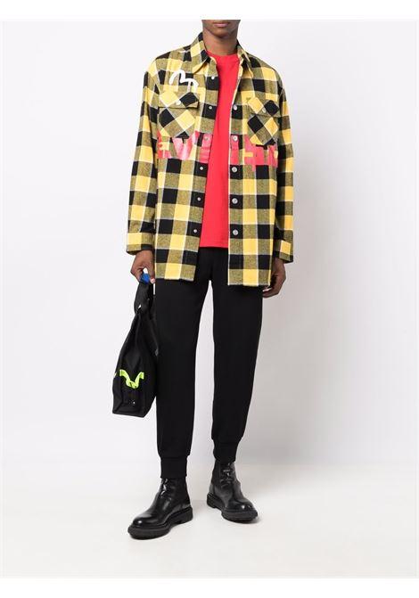 camicia a quadri uomo gialla e nera in cotone EVISU   Camicie   2EAEBM1SL131WVYELXX