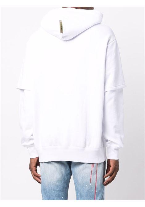 2 in 1 sweatshirt man white in cotton EVISU   Sweatshirts   2EAEBM1SW441LFWHTE