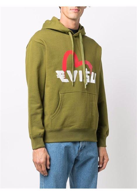 felpa con logo uomo avocado in cotone EVISU | Felpe | 2EAEBM1SW443LFKHAXX