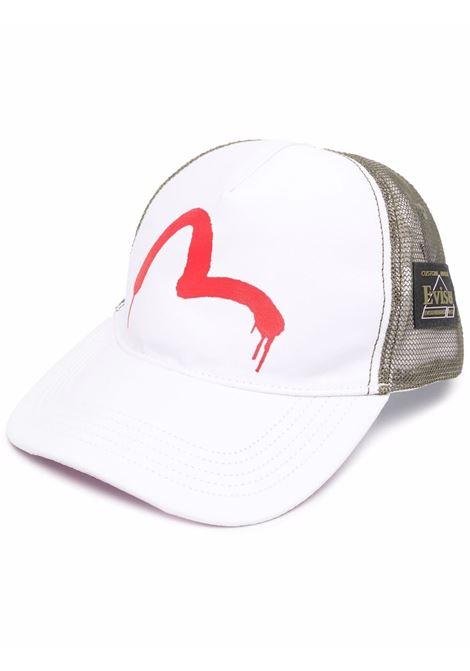 logo cap man white in cotton EVISU | Hats | 2EAEBU1HT860XXBWKH