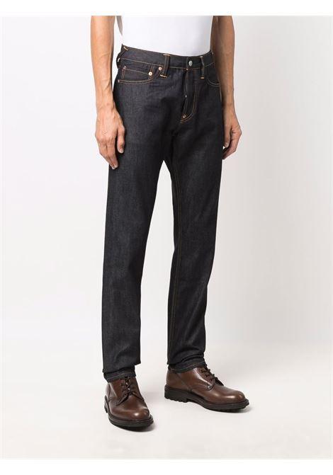 turn up jeans man blue in cotton EVISU   Jeans   2EABSM1JE21217INDX