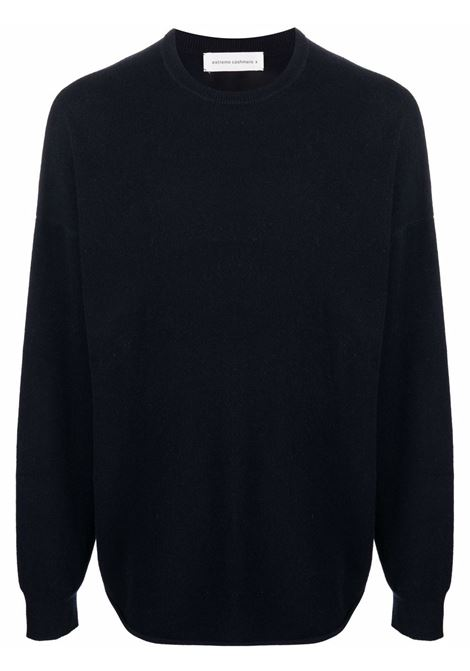 sweater with turn ups man navy EXTREME CASHMERE | Sweaters | 05300101FE01NAVY
