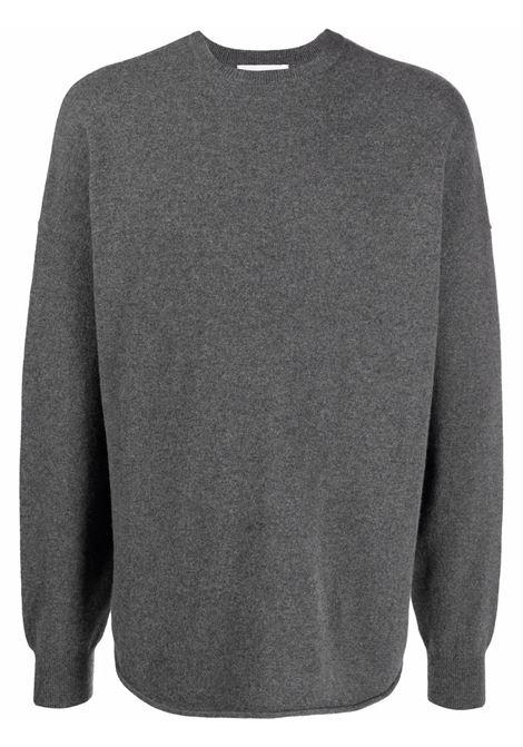 maglione con risvolto uomo grigio in cashmere EXTREME CASHMERE | Maglieria | 05309801FE01FELT