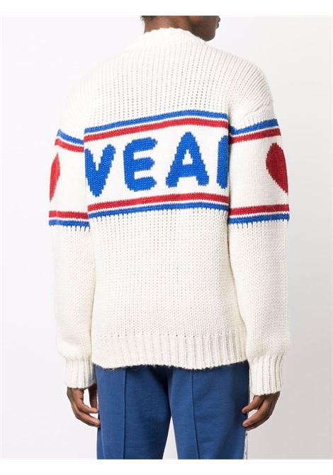 logo sweater man white in wool GCDS   Sweaters   CC94M02116066
