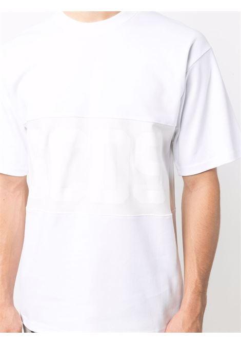 logo t-shirt man white in cotton GCDS | T-shirts | CC94M02150101