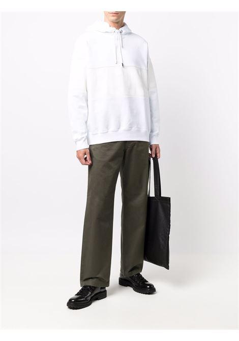 logo hoodie man white in cotton GCDS | Sweatshirts | CC94M02150301