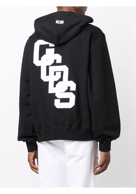 college logo hoodie man black in cotton GCDS | Sweatshirts | CC94M02151002