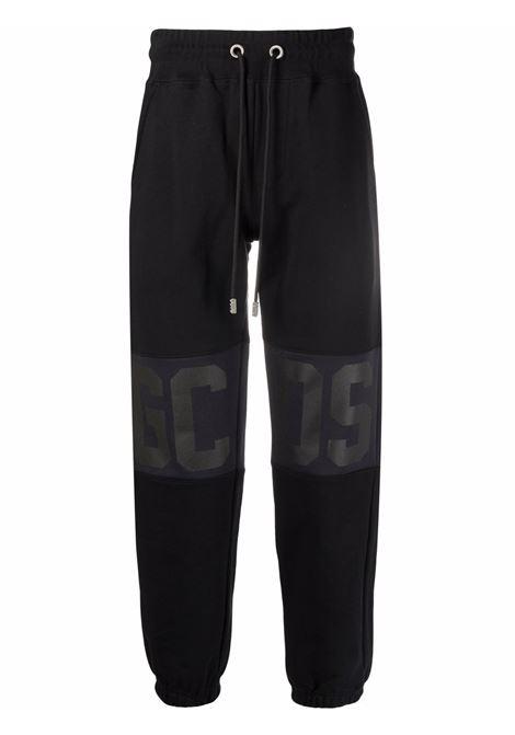 pantaloni tuta con logo uomo nero in cotone GCDS | Pantaloni | CC94M03150202