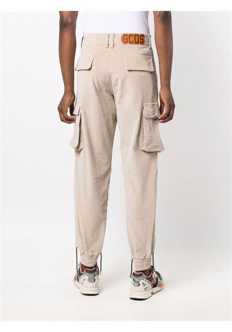 pantaloni cargo uomo beige in cotone GCDS | Pantaloni | FW22M03050213