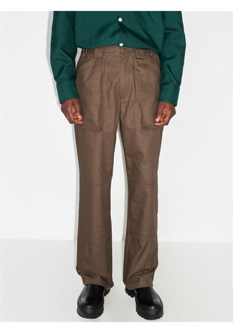 gusset trousers man brown in cotton GR10K   Trousers   GR1A8KGGUESS BROWN