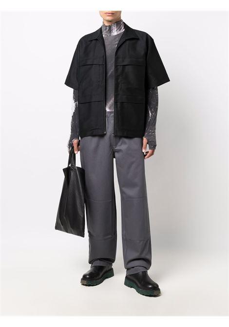 pantaloni lever uomo grigi in cotone GR10K | Pantaloni | GR1A9KECONVOY GREY