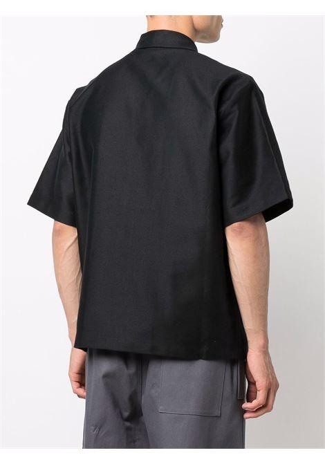 solid shirt man black in cotton GR10K | Shirts | GR2AATEBLACK