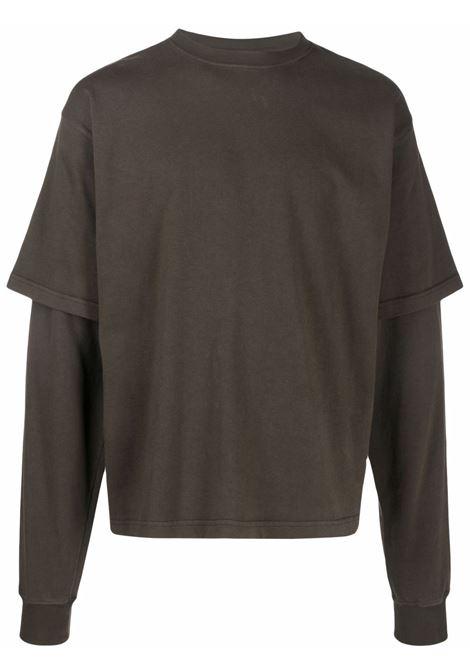 long sleeves man brown in cotton GR10K | T-shirts | GR4A2JZSOIL BROWN