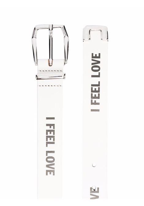 belt with slogan man white in leather HONEY FUCKING DIJON | Belts | HFD04K0023