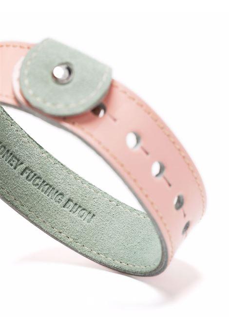 bracciale con slogan unisex rosa in pelle HONEY FUCKING DIJON | Gioielli | HFD04K0042