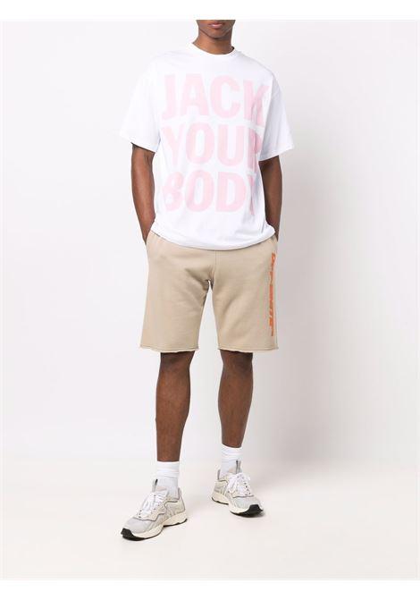 t-shirt con slogan uomo bianca in cotone HONEY FUCKING DIJON | T-shirt | HFD04T0025