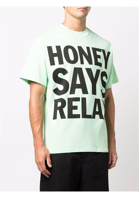 slogan t-shirt man mint in cotton HONEY FUCKING DIJON | T-shirts | HFD04T0034