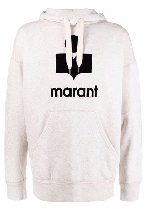miley hoodie man white in cotton ISABEL MARANT | Sweatshirts | 00MSW0055-00M003H23EC