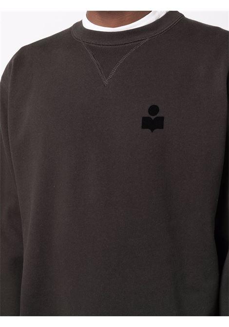felpa mike uomo nera in cotone ISABEL MARANT | Felpe | 00MSW0057-00M003H02FK