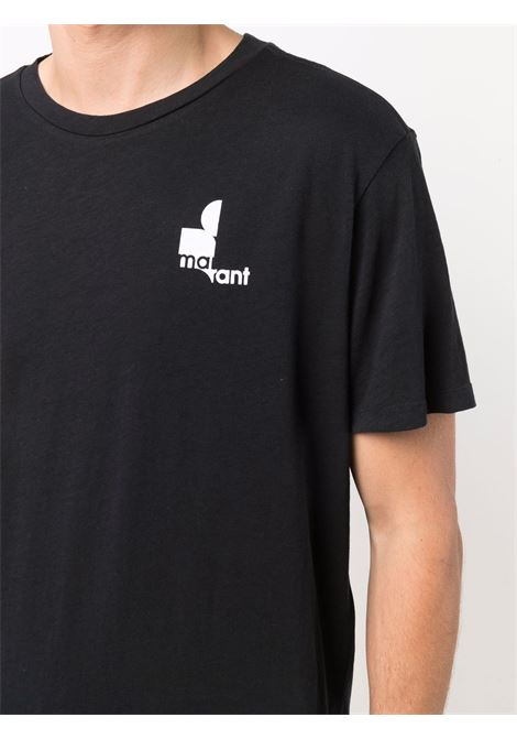 t-shirt zafferh uomo nera in cotone ISABEL MARANT | T-shirt | 00MTS0433-00M900H01BK