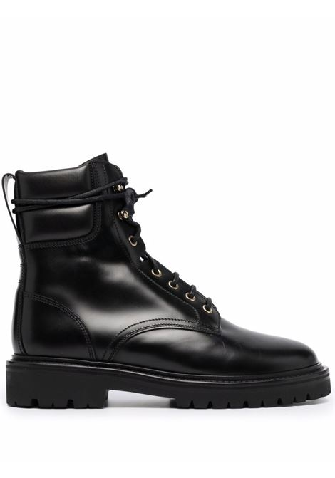 campah boots man black in leather ISABEL MARANT | Boots | 1ABO0753-21A003N01BK