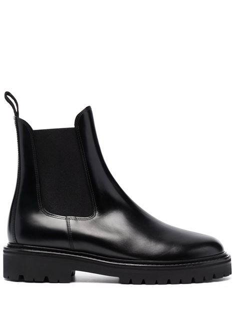 castayh boots man black in leather ISABEL MARANT | Boots | 21ABO0752-21A003N01BK