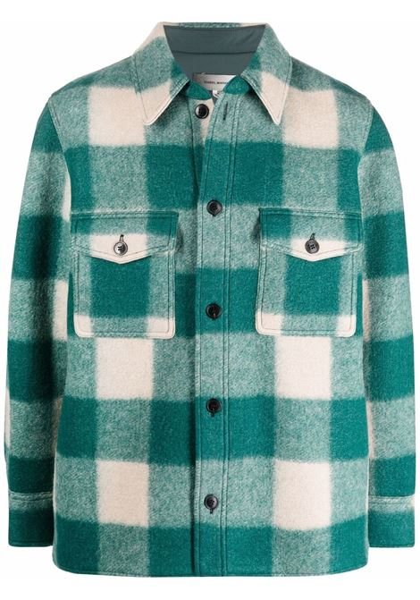 giacca kevron uomo verde in ISABEL MARANT | Cappotti | 21AVE1623-21A008H60GR