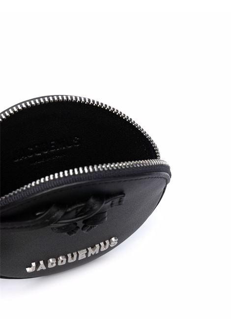 le pitchou purse unisex black in leather JACQUEMUS | Belt Bag | 213SL01-213990