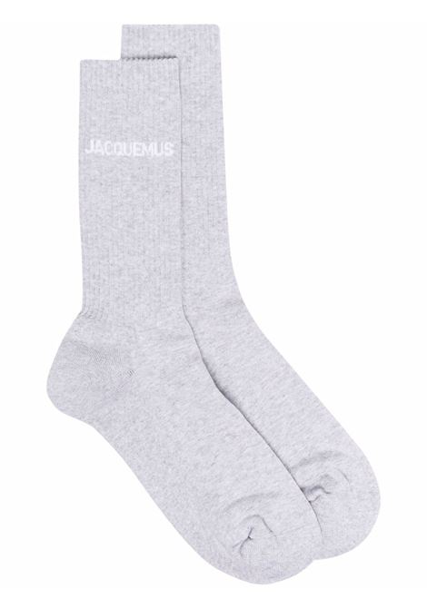les chaussettes socks man gray in cotton JACQUEMUS | Socks | 216AC03-216950