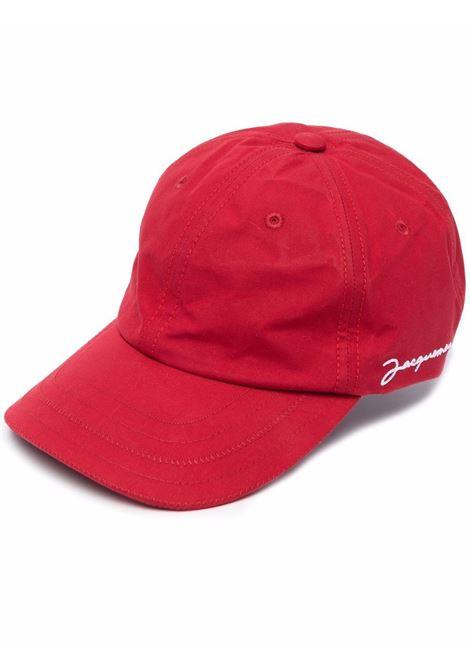 cappello la casquette unisex rosso in cotone JACQUEMUS | Cappelli | 216AC09-216470