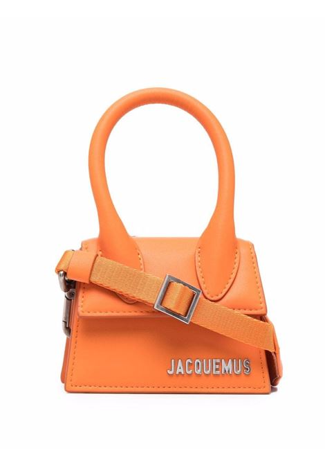 le chiquito homme bag orange in leather JACQUEMUS | Bags | 216BA01-216750