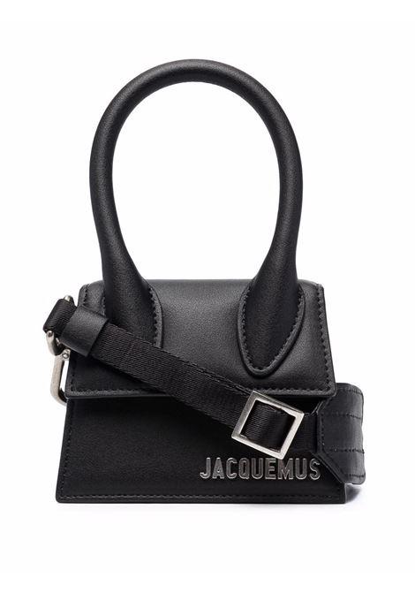 le chiquito homme bag unisex black in leather JACQUEMUS | Bags | 216BA01-216990