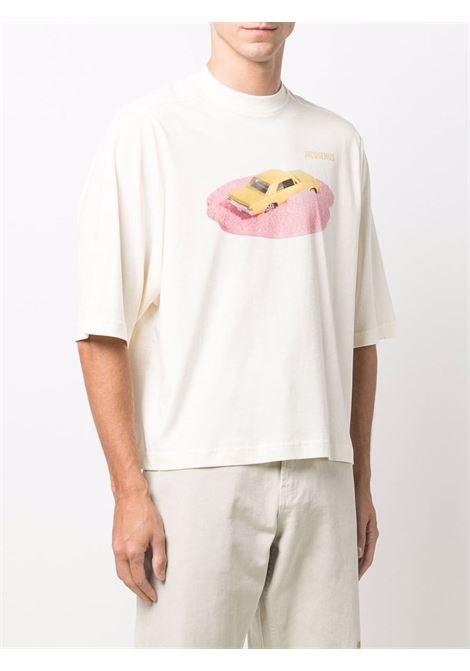 t-shirt voiture man white in cotton JACQUEMUS | T-shirts | 216JS15-2161AG