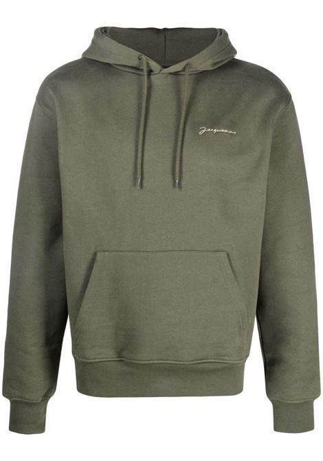 le sweatshirt brode man dark khaki in cotton JACQUEMUS | Sweatshirts | 216JS30-216580