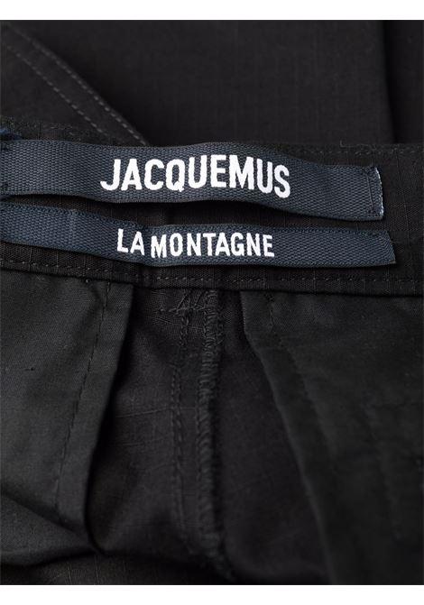 le pantalon peche man black in cotton JACQUEMUS | Trousers | 216PA07-216990