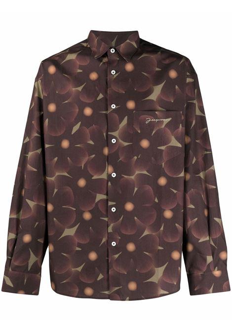 la chemise simon shirt man brown in cotton JACQUEMUS | Shirts | 216SH01-2168AG