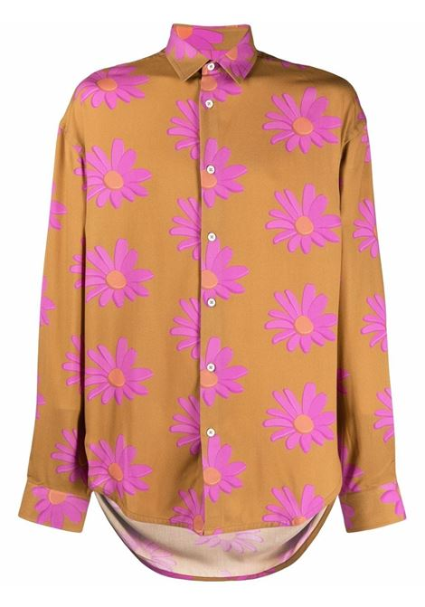 la chemise notte shirt man orange in viscose JACQUEMUS | Shirts | 216SH08-2167AD